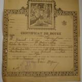 CERTIFICAT  DE  BOTEZ - 1923