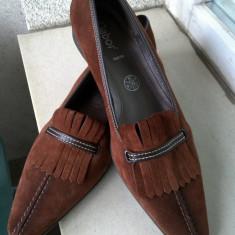 EXCEPTIONALI PANTOFI GABOR PIELE NATURALA ANTILOPA MARIME 40, 6 1/2 INTERIOR 26 CM NOI PRET ETICHETA 90 EURO - Pantofi dama