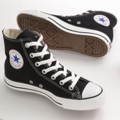 Bascheti Converse negri unisex - Tenisi barbati, Textil