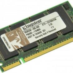 Memorie RAM laptop Kingston, DDR, 256 MB - Memorie laptop 256MB DDR1 266 MHz (PC2100) Kingston KTH-ZD7000/256, SODIMM 200 pini
