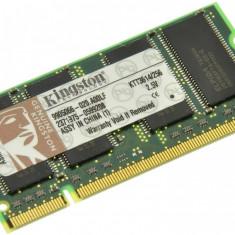 Memorie RAM laptop Kingston, DDR, 256 MB - Memorie laptop 256MB DDR1 266 MHz (PC2100) Kingston KTT3614/256, SODIMM 200 pini