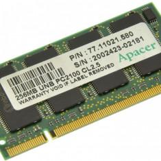 Memorie RAM laptop Alta, DDR, 256 MB - Memorie laptop 256MB DDR1 266 MHz (PC2100) Apacer 77.11021.580, SODIMM 200 pini
