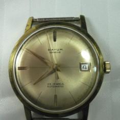 Ceas de mana - DATUM GENEVE - AUTOMATIC - 25 RUBINE - VINTAGE - ANII 1970 - STARE DE FUNCTIONARE - CEAS ELVETIAN DE COLECTIE