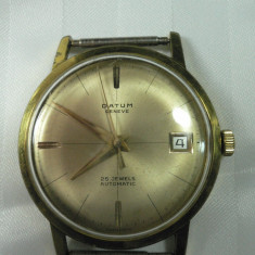 DATUM GENEVE - AUTOMATIC - 25 RUBINE - VINTAGE - ANII 1970 - STARE DE FUNCTIONARE - CEAS ELVETIAN DE COLECTIE - Ceas de mana