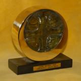 Credinta 2 - alama sticla h=14 cm, autor Lazar Valeriu 2010 - Sculptura