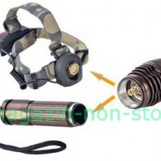 Lanterna 2 in 1 Frontala Sau De Mana cu Led Cree Acumulator Si Semnalizator, Faruri si semnalizatoare