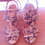 Sandale dama animal print, Marime: 38, Culoare: Din imagine, Din imagine