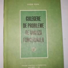 Culegere de analiza functionala - Ed. Didactica si pedagogica Bucuresti 1981 - Culegere Matematica