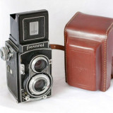 Meopta - Flexaret VI (aparat foto de colecţie) + accesorii originale (toc, protecţie lentile) - Aparat de Colectie