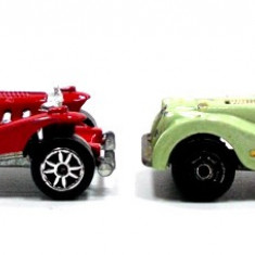 MAJORETTE -REGULAR-SCARA 1/64-LOT EXCALIBUR+MORGAN - ++2501 LICITATII !! - Macheta auto