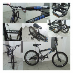 Bicicleta BMX, Numar viteze: 1, Otel, Negru, BMX, Otel - BMX Sense Impulse