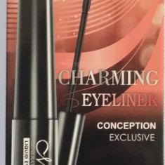 Set Tus lichid pentru ochii + creion sprancene maro+creion negru Charming Eyeliner - Tus ochi