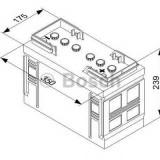 Baterie de pornire KIA PREGIO bus 2.5 D - BOSCH 0 092 T30 350