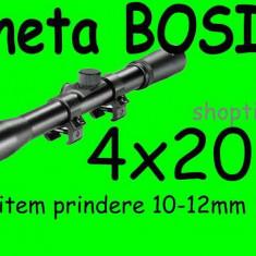 Luneta vanatoare - LUNETA metalica Bosile 4X20 + prindere Arma Arbaleta Pusca Pistol Airsoft