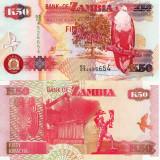 Bancnota Straine, Africa - ZAMBIA 50 kwacha 2009 UNC!!!
