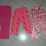 Set 3 pantaloni pijama, de casa pentru fete, 8-10 ani. COMANDA MINIMA 30 lei