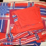 Lenjerie de pat, 3 piese- 2 huse de perna si husa de plapuma, groase, ideale iarna