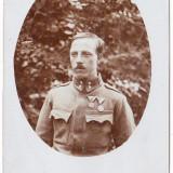 Fotografie tip carte postala  apr.1915 Austria Ungaria ofiter cu decoratii WW.I.