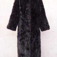 Palton dama, M/L - Haina din blana naturala de nurca, culoare mahon
