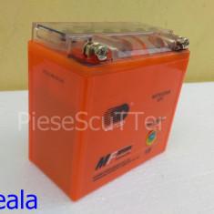 Acumulatori Moto - Baterie / acumulator Moto Scuter / ATV 12v ( volti ) 9A ( amperi ) 12 v 9 A ( GEL ) ( L-13.5 / l-7.5 / H-13 )