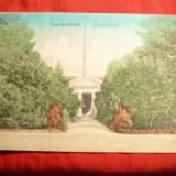 Vedere Buzias, clasica, inc. sec.XX, circulata in 1908 - Carte Postala Transilvania 1904-1918