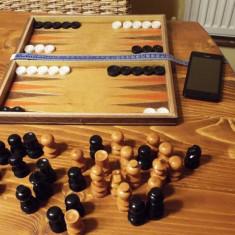 Joc sah table + piese lemn - Table sah