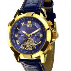 Ceas de lux Calvaneo 1583 Astonia Gold Blue, original, nou, cu factura si garantie! - Ceas barbatesc Calvaneo, Mecanic-Automatic