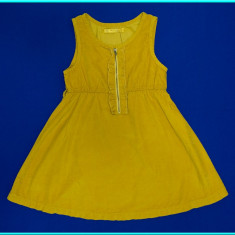 NOU _ Sarafan / rochie, catifea subtire, calitate TERRANOVA _ fete | 12 - 13 ani, Culoare: Mustar