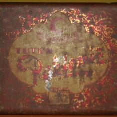 RARĂ! CUTIE PEKLEMIZ PT. TUTUN DE PE ADA KALEH, TABLĂ, VIZITĂ CAROL II, 100 GR! - Cutie Reclama