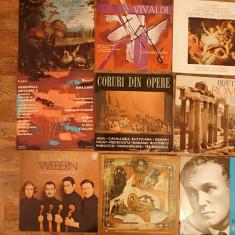 Lot discuri muzica din coruri - Muzica Clasica, VINIL