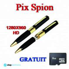 Pix Spion HD1280 cu Senzor KONICA MINOLTA, Camera Ascunsa Spy, Foto 5MP+Card 8GB - Camera spion