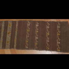 tesatura textila - Covoras sau pres taranesc vechi, tesatura din lana cu model