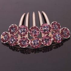 Brosa Swarovski - Accesoriu de par placat cu Aur 18k cu cristale Swarovski Magic Flower