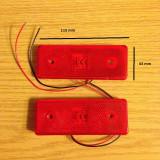 Lampa laterala SMD gabarit 12 V ROSU, Universal