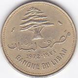 Moneda Liban 10 Piastri 1972 - KM#26 XF++/ aUNC, Asia