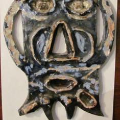 Arta din Africa - PVM - Masca din ceramica foarte frumos pictata