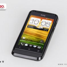 Husa Telefon - Husa TPU 2 in 1 + Folie Protectie HTC One V by Yoobao Originala Black