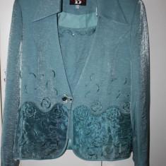 SUPERB costum OKAZIE 3 piese BARACI mar 44 ca nou - Costum dama, Culoare: Bleu