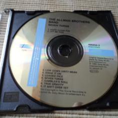 Allman Brothers Band seven turns cd disc muzica rock blues epic fara coperta