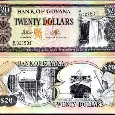 GUYANA- 20 DOLLARS ND 2009- UNC!!