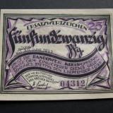 Bancnota Straine - Notgeld 25 pfennig STETTIN 1921 septembrie 1 Germania UNC/aUNC 0431