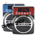 BOXA MP3 RADIO FM X-BASS KEMAI CARD MICRO SD, USB, ACUMULATOR SI AFISAJ - MP3 player