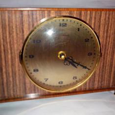 Ceas vechi electronic de semineu / camin DUGENA din lemn 26cm - Ceas de semineu