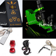 Kit tattoo profesional cu sursa Efin Power digitala si masina Stigma Bizzare2, tatoo, aparat, tatuat - Masina tatuaje
