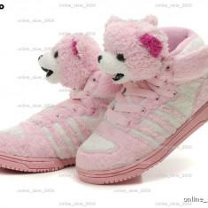 Adidas Jeremy Scott Teddy Bear pink. - Adidasi dama, Marime: 36, 34, 35, Culoare: Roz