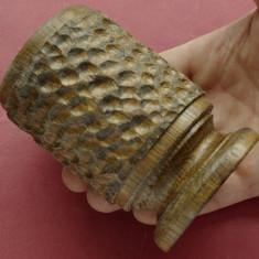 Pahar - cupa din lemn model deosebit !!! - Pahare