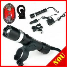 Lanterna Nitecore Acumulator 18650 4800mah+ SUPORT BICILETA + STOP FAR LUMINA