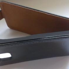 Husa toc flip cover Samsung Galaxy S2 i9100 S2 Plus i9105 piele ecologica NEGRU + folie display - Husa Telefon Akella