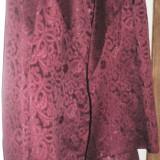 Costum dama, Marime: 40, Culoare: Grena, Costum cu fusta, Grena