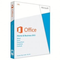 Office Home & Business 2013 32bit/64bit Medialess - Solutii business